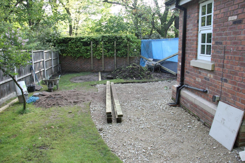 knutsford garden - before decking & fencing