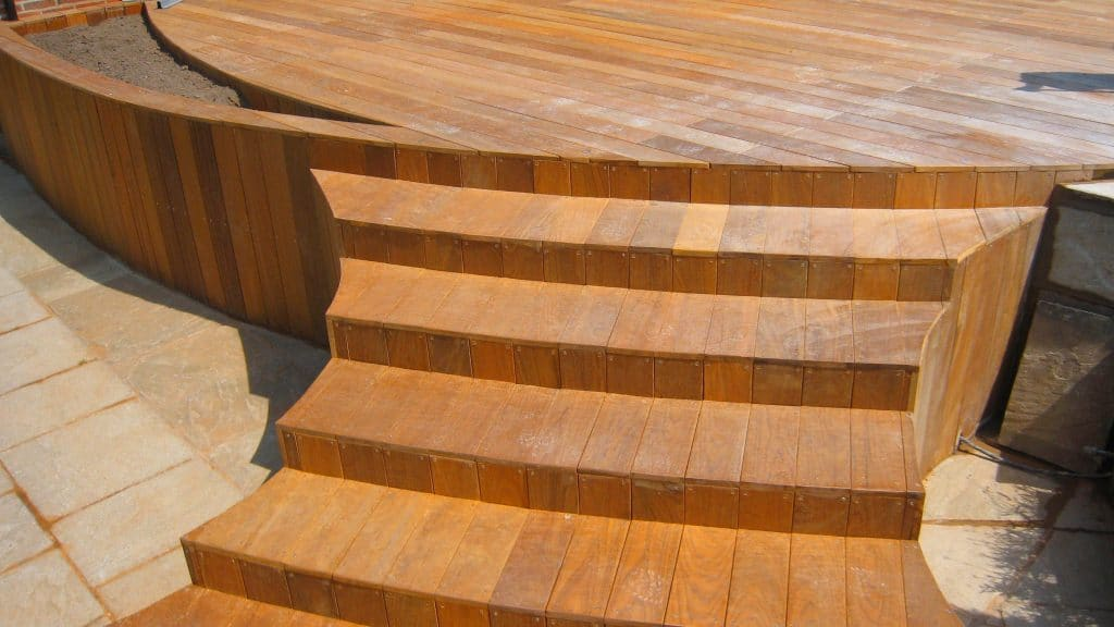 curved Ipe deck