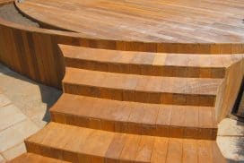 curved Ipe deck